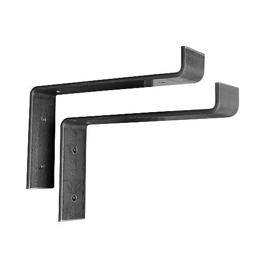 "4 Pack 7/""x4/"" Shelf Brackets Angle Metal Shelve Bracket Modern Industrial Iron"
