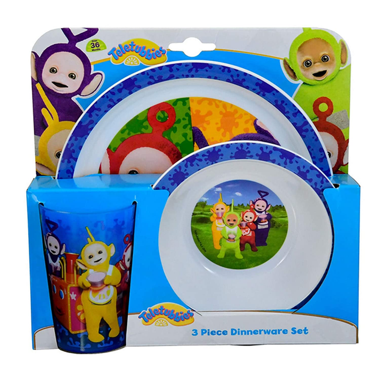 Teletubbies 3 Piece Childrens Dinner Set (One Size) (Multicolored) UTSG14925