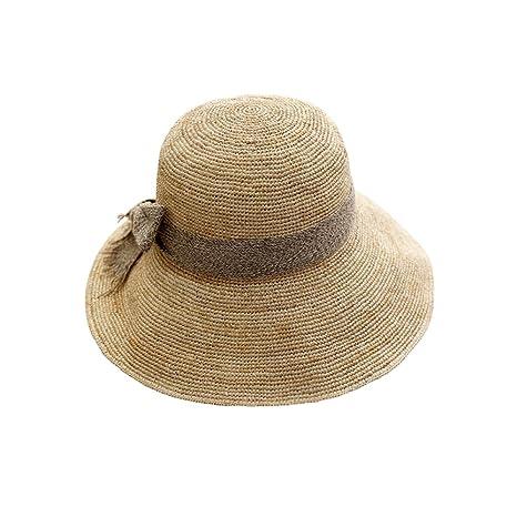 b5824d4c0b367 GAOQQ Sombrero De Paja Rafi Verano Femenino Pequeño Y Fresco Plegable Beach  Trip Hat Sombrero Femenino