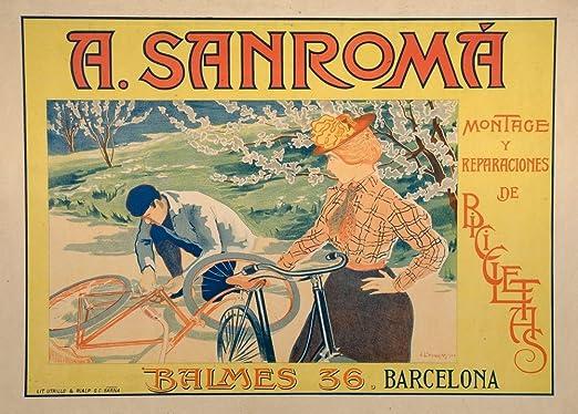 Vintage ciclismo bicicletas SANROMA, de España c1900 250 gsm ...