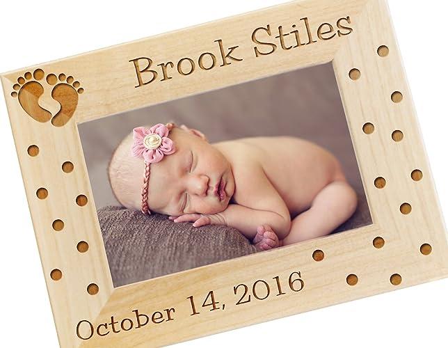 Amazoncom Personalized Newborn Baby Gift Photo Frame Custom