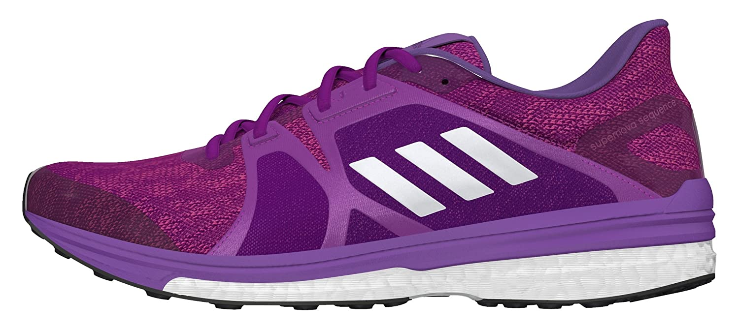 hot sale online 8cf14 bb315 adidas Supernova Sequence 9, Women s Competition Running Shoes, Purple  (Shock Purple silver Metallic shock Pink), 5.5 UK (38 2 3 EU)   Amazon.co.uk  Shoes   ...
