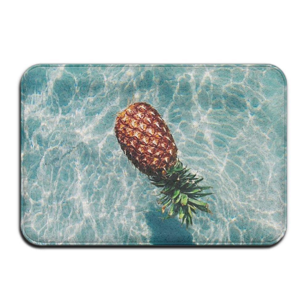 BINGO BAG Swimming Pool Summer Time Pineapple Indoor Outdoor Entrance Printed Rug Floor Mats Shoe Scraper Doormat For Bathroom, Kitchen, Balcony, Etc 16 X 24 Inch