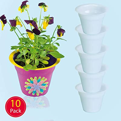 Baker Ross Mini Ready to Paint Plastic Planters, for Kids to Decorate and Display (Pack of 10): Baker Ross: Toys & Games