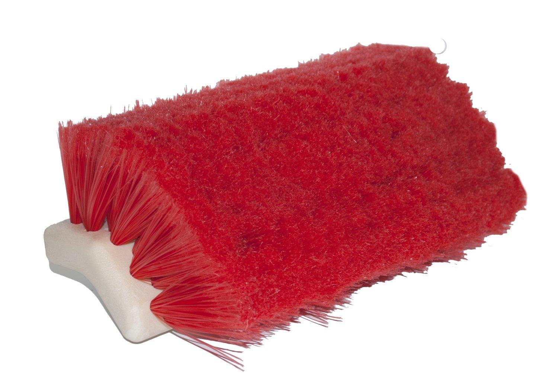 Magnolia Brush 186-R Freight Van and Truck Washing Brush, Nylon Bristles, 2-3/8'' Trim, 10'' Length, Red (Case of 12)