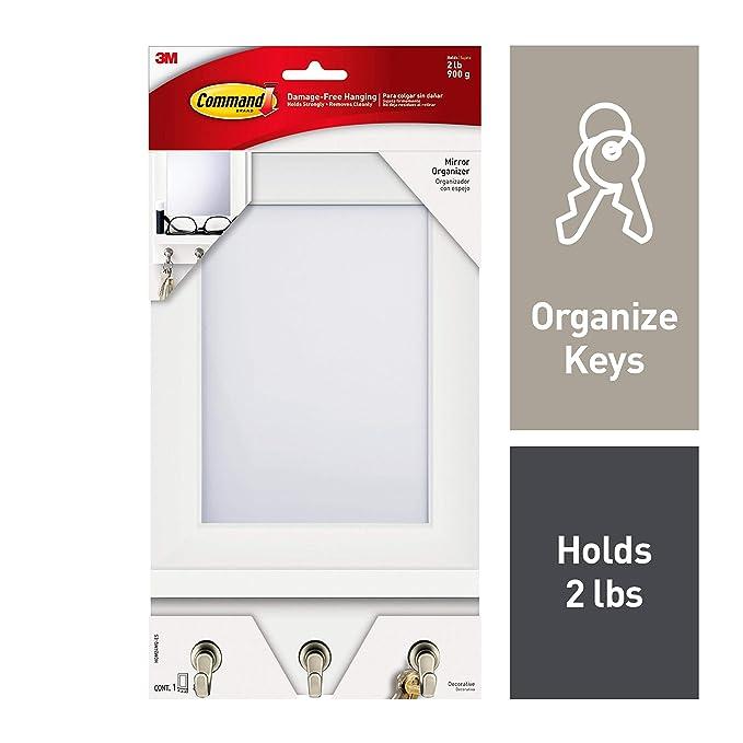 Amazon.com: Command HOM24MQ-ES 1 organizador con espejo y ...