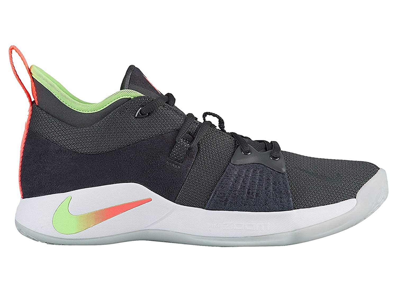 detailed look 7c0c3 f3584 Nike Men's PG 2 Basketball Shoes (9.5, Anthracite/Hot Punch)