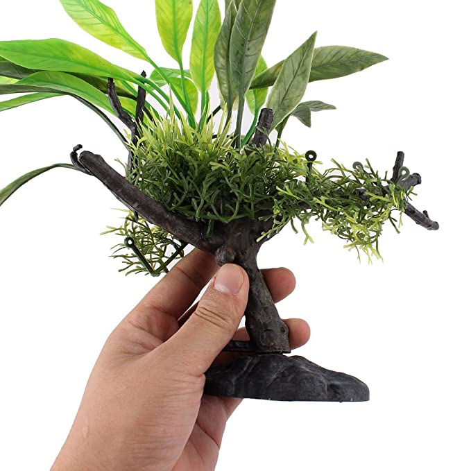 Amazon.com : eDealMax acuario plástico del tanque de pescados atificial ornamento planta 9, 9 pulgadas Verde : Pet Supplies