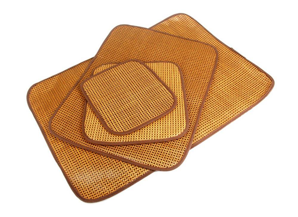 Foryofun Alfombrilla de doble uso para mascotas, cama de doble cara para perro, gatos, cachorro, refrigeración, cojín para verano frío, alfombra de bambú ...