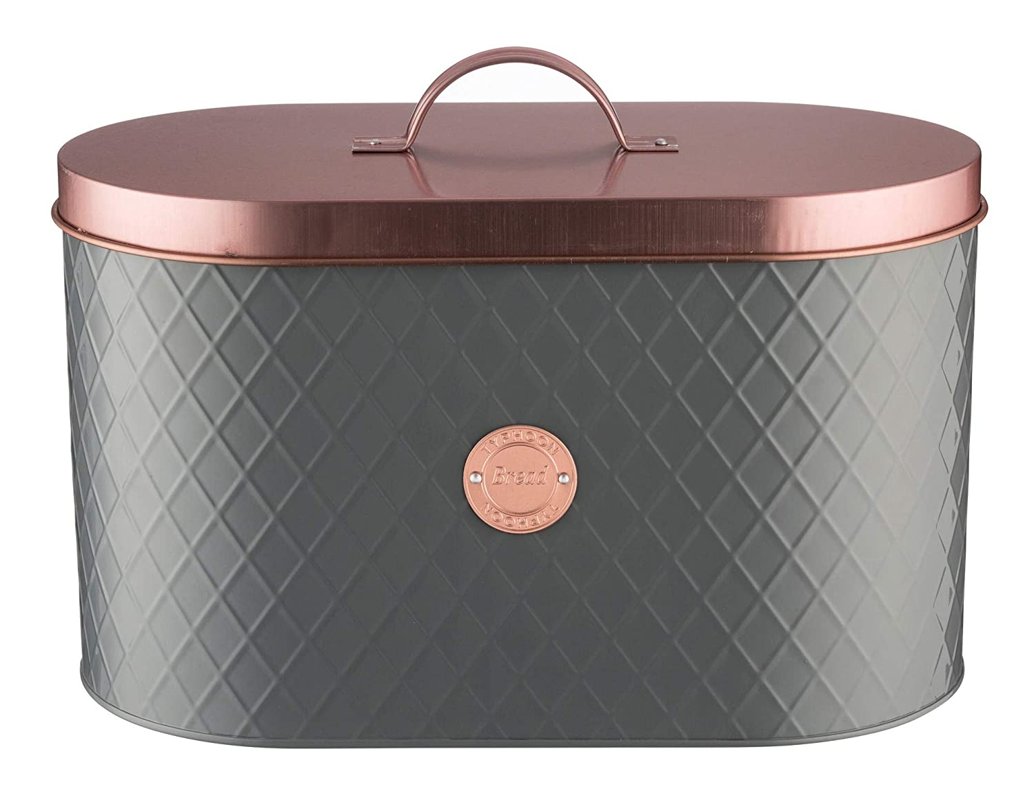 Cookware, Dining & Bar Smart Bread Bin Stainless Steel Kitchen Storage Black Rose Gold Lid Roll Top