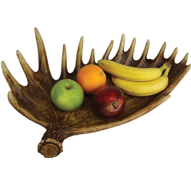 Rivers Edge Moose Antler Fruit Bowl 897
