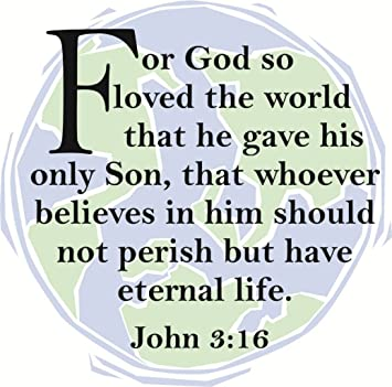 For So Loved The World John  Kjv Picture Art L Stick Vinyl Wall Decal Sticker Size  Inches X  Colors Available Wall