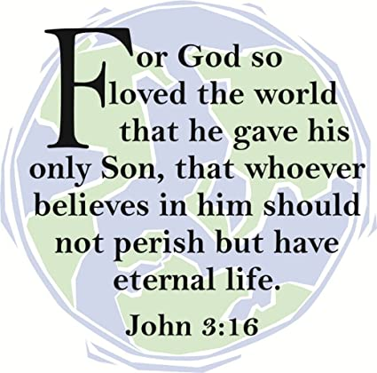 For God So Loved The World John 316 Kjv Picture Art Peel
