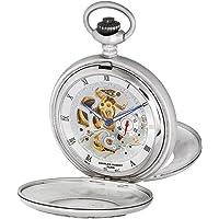Charles-Hubert, Paris 'Classic Collection' Reloj de bolsillo mecánico de mano de latón con viento, color: blanco (modelo: DWA023)