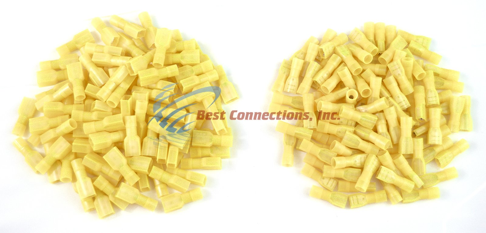 12-10 GAUGE NYLON QUICK DISCONNECT 100 MALE 100 FEMALE YELLOW INSTALL BAY