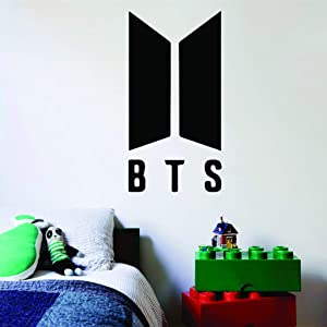 BTS Korean Pop Singers Kpop Boy Band Dance Wall Decals for Girls and Boys Bedroom/Singer Dancer Group Popular Decor Vinyl Wall Stickers K Pop Decal Quotes Quote Logo Decoration Size 15x20 inch