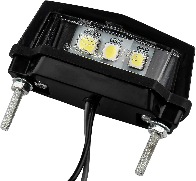 Autolight 24 Led Kennzeichenleuchte Nummernschildleuchte Motorrad Quad Atv Hell Abs Mit Zulassung 3 Smd L 58 5mm X H 19mm X T 30mm Auto