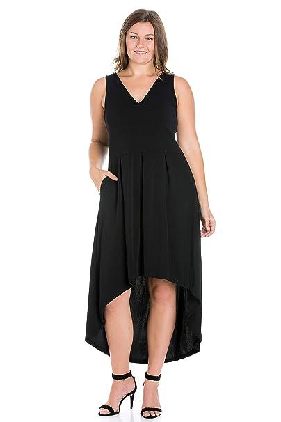 24seven Comfort Apparel Women\'s Plus Size Sleeveless High ...