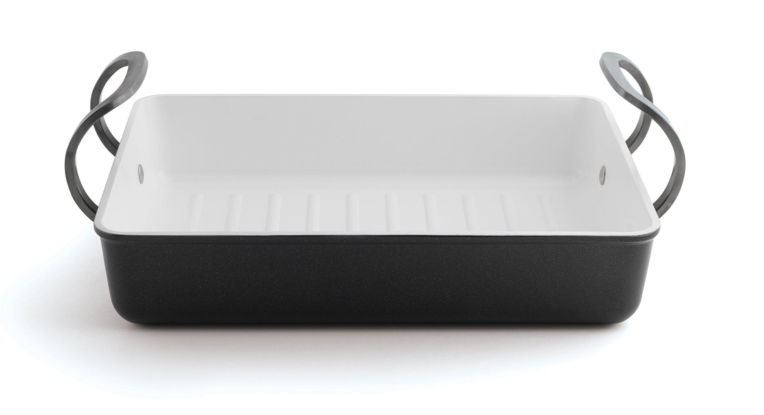 Berghoff Eclipse Black & White Roasting Pan, Black/White