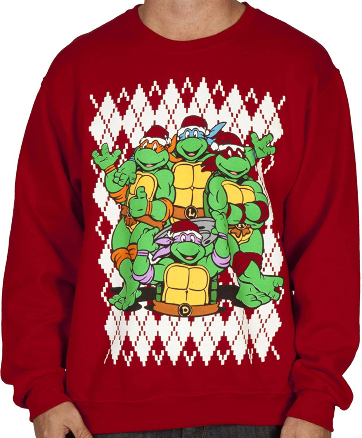 Amazon.com: TMNT Christmas Faux Ugly Sweater: Clothing