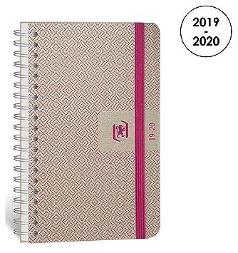 Oxford Nude agenda escolar (años 2017 – 2018 1 día por página 352 páginas 12 x 18 cm fucsia