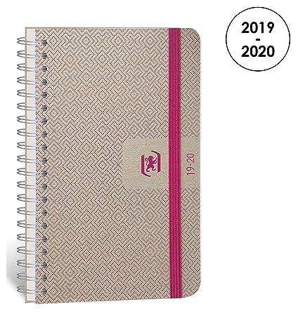 Oxford Nude agenda escolar (años 2019 – 2020 1 día por página 352 páginas 12 x 18 cm fucsia