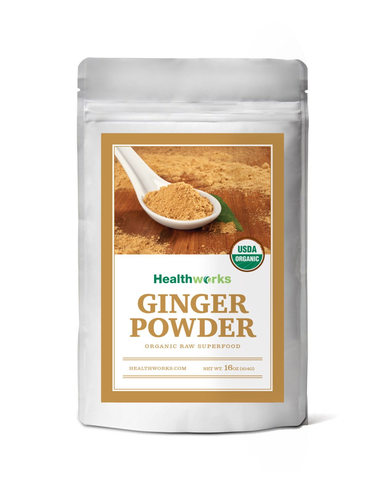 Healthworks Ginger Powder Raw Organic, 1lb