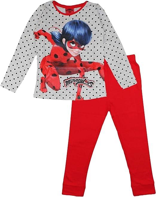 Conjunto de pijama de algodón para niñas de mariquita milagrosa
