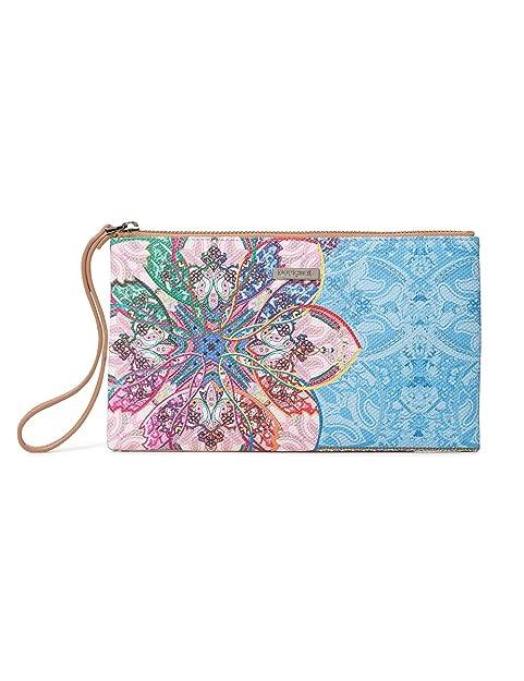Desigual - Wallet Mexican Cards Monica Women, Carteras Mujer, Azul (Azul Agua)
