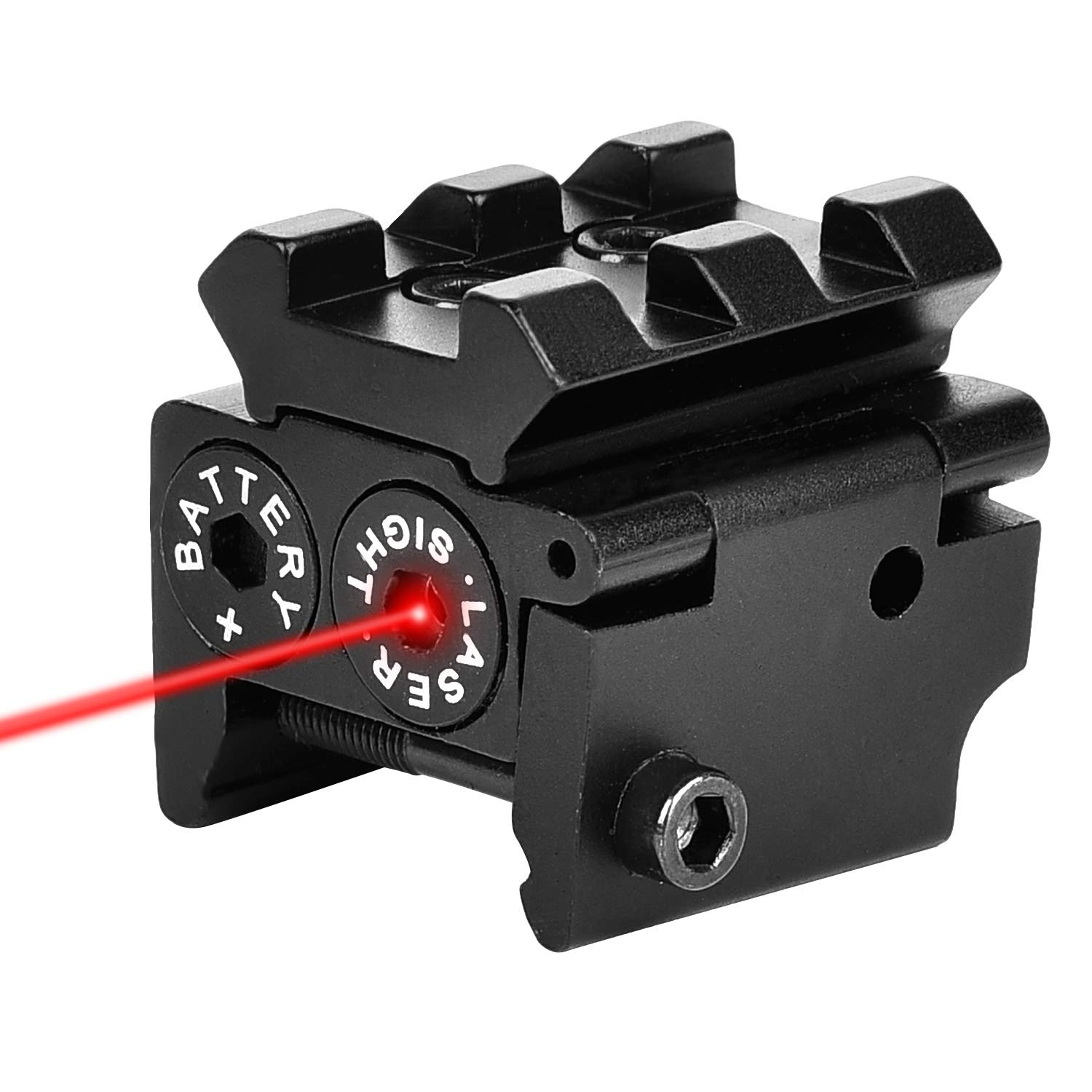 EZshoot Mini Red Laser Red Dot Gun Sight with Rail Mount for Pistol Handgun Low Profile Rifle with Two Sets of Batteries by EZshoot