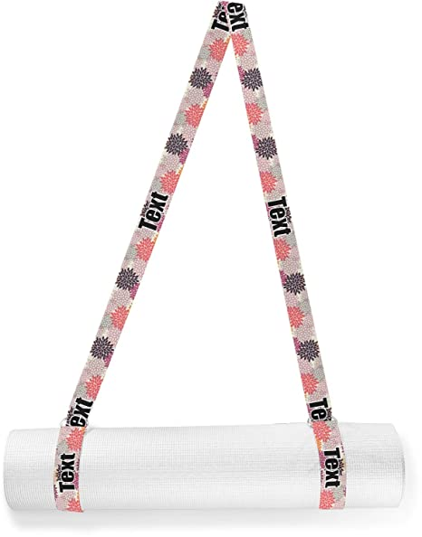 Amazon.com : YouCustomizeIt Mums Flower Yoga Mat Strap ...