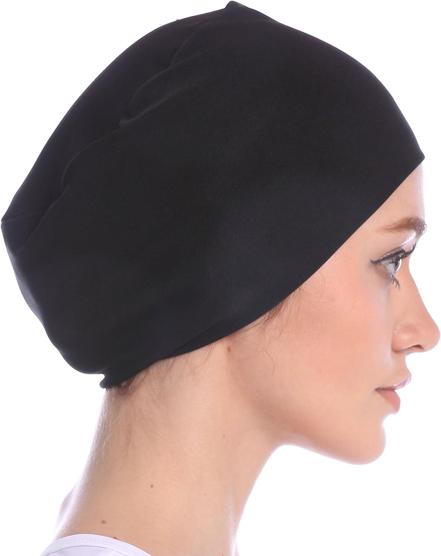 Ababalaya Womens Gold Velvet Luxury Magic Turban Muslim Headscarf 67/×10 inch