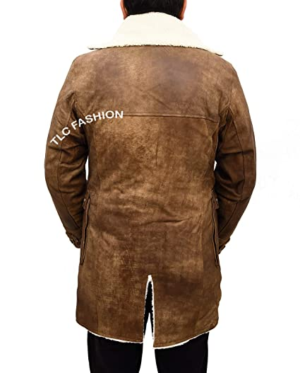 f1319691abd0 TLCFashion Bane Distressed Brown Bomber Jacket-Winter Shearling Coat Men at  Amazon Men s Clothing store