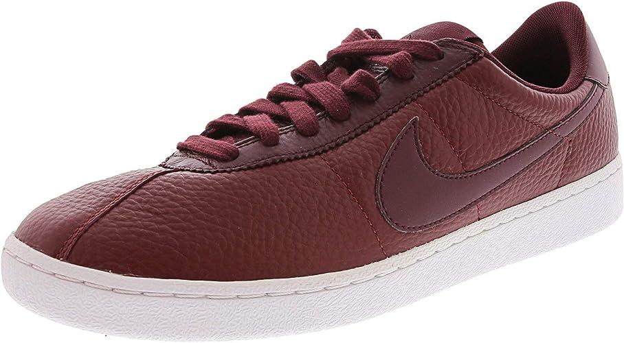 Asociar seguro Consecutivo  Amazon.com | Nike Bruin Mens Low Fashion Sneaker Team Red/Night  Maroon-White Leather | Fashion Sneakers