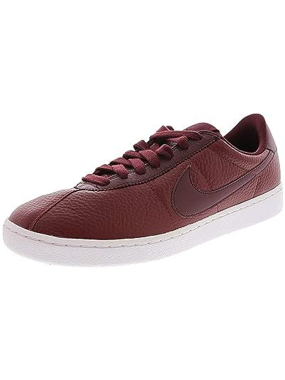 Nike Bruin Leather 845056-601 Team Red White Night Maroon Swoosh Men s Shoes 6917e7e72be