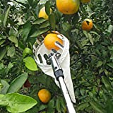 Outdoor Fruit Picker - Labor Saving Garden Picking Device Tool with Bag Basket - Farm Harvest Catcher - Equipment for Getting Fruits - Easy Reach for Orange Peach Pear
