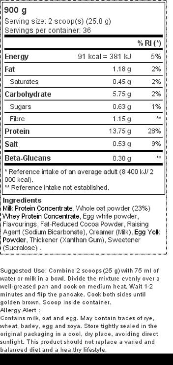 Pancake + Protein: Tortitas de avena con proteína 900 g Tarta de queso con fresas: Amazon.es: Salud y cuidado personal