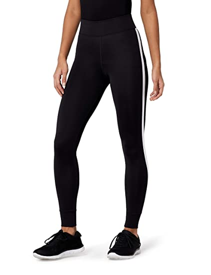 AURIQUE Damen 7/8-Sportleggings mit Seitenstreifen