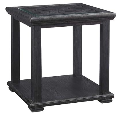 Ashley Furniture Signature Design - Tyler Creek Casual Square End Table - Black
