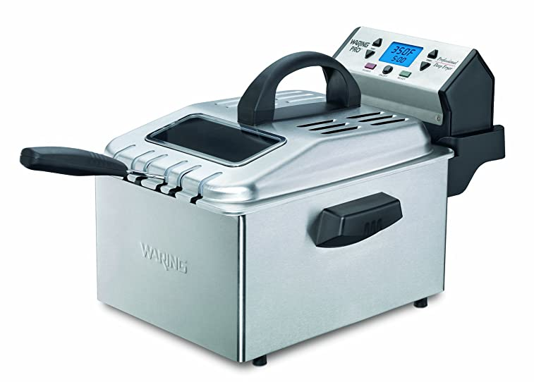 Waring Pro DF280 Professional Home Deep Fryer, Brushed Stainless