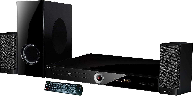 Nevir NVR-711DCDU sistema de cine en casa 2.1 canales 25 W Negro ...