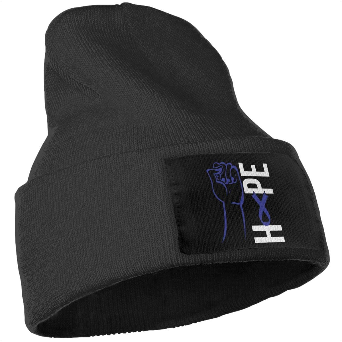 COLLJL-8 Unisex Colon Cancer Awareness Flag Outdoor Stretch Knit Beanies Hat Soft Winter Knit Caps