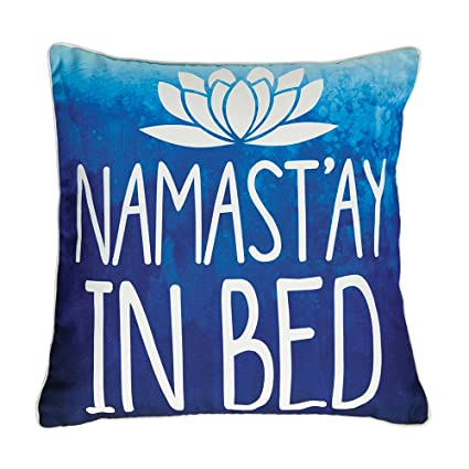 Amazon Namastay In Bed Decorative Accent Pillow In Blue For Interesting Decorative Bed Pillows Blue