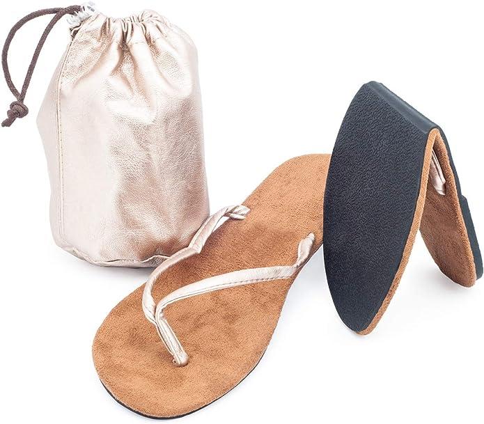 CatMotion Zapatos Plegables para el Bolso, Chanclas Plegables para Mujer, Flip-Flop Zapatos para el Bolso: Amazon.es: Zapatos y complementos