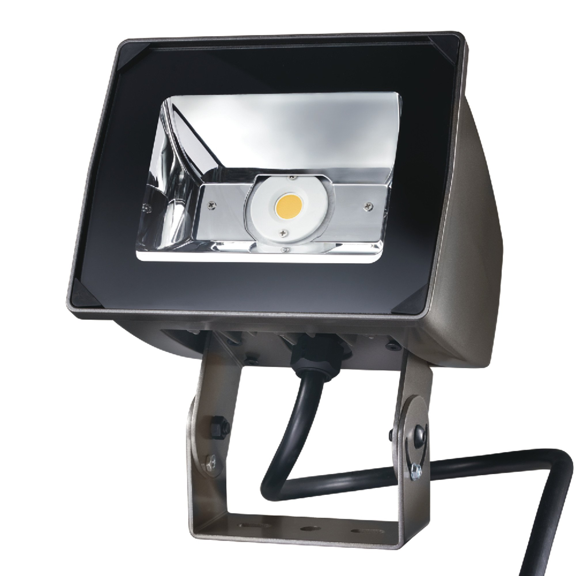 Lumark Nffld-S-C70-T-Unv Night Falcon 20W Carbon Outdoor Integrated LED Area Light with Trunnion Mounting, Bronze