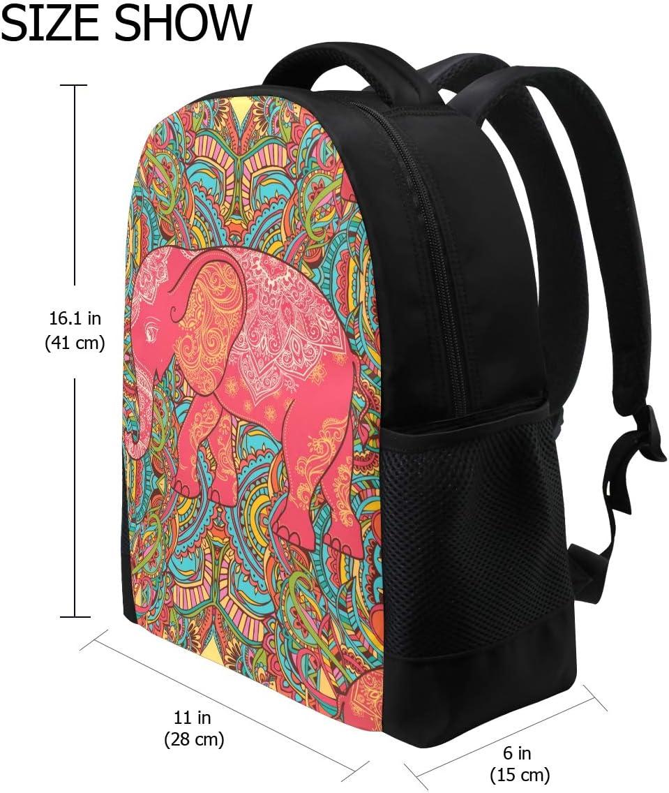 JERECY Vintage Retro Elephant Casual Backpack Custom Office School Laptop Bag Travel Daypack