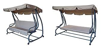 Hollywoodschaukel mit liegefunktion 4 sitzer  Amazon.de: 4-Sitzer Hollywoodschaukel mit Liegefunktion, anthrazit ...