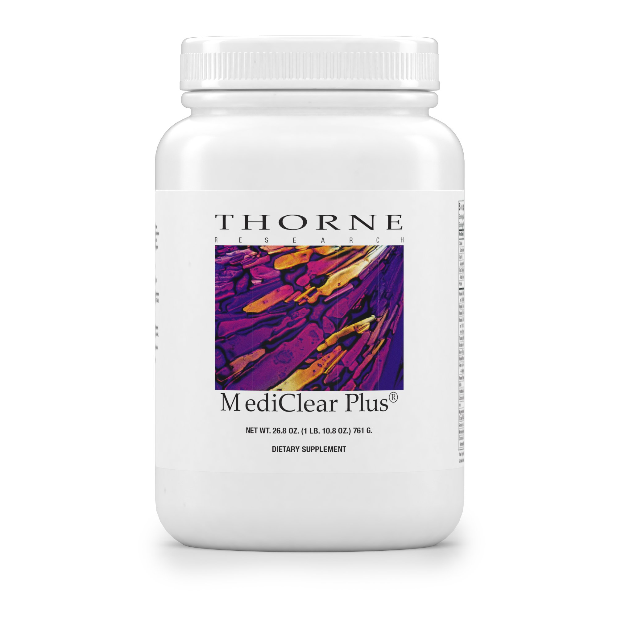 Thorne Research - MediClear Plus (Reformulated) - Detox, Cleanse, and Weight Management Support - Rice and Pea Protein-Based Drink Powder with a Complete Multivitamin-Mineral Profile - 26.8 oz