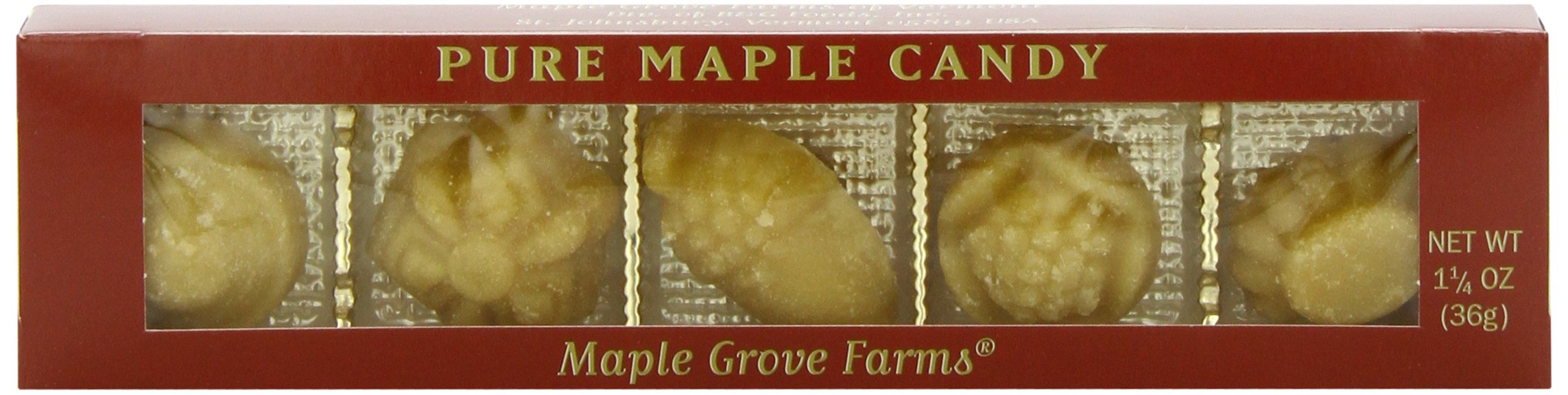 Maple Grove Farms Pure Maple Candy, Pocket Pack Fancies, 1.25 Ounce (Pack of 20)