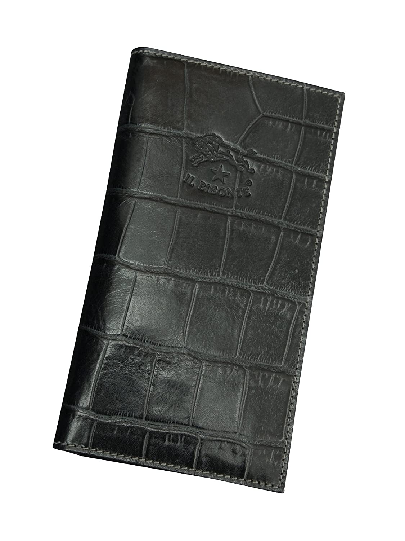 (イルビゾンテ)IL BISONTE C0974 3色展開 新たな魅力に気付かれるクロコ型押しレザー長財布 [並行輸入品] B01MQE8X19ブラック